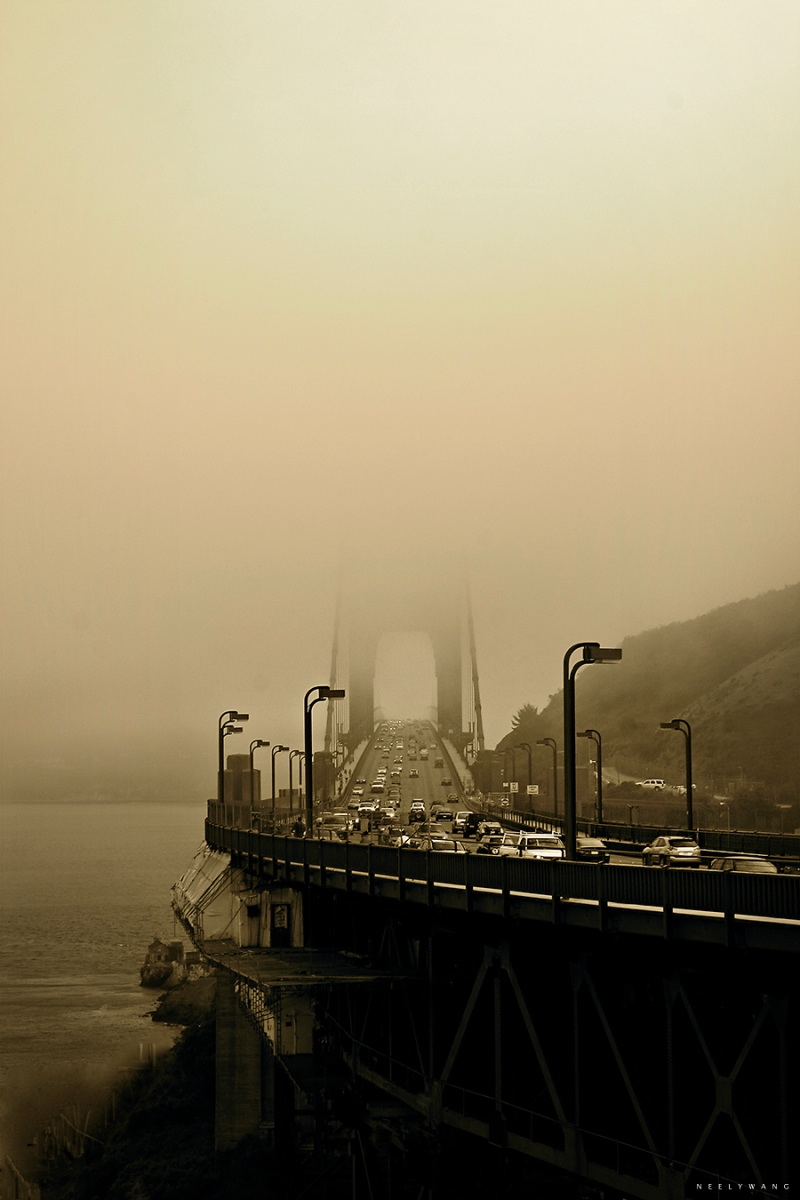 Fog at Golden Gate Bridge