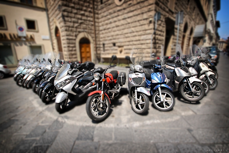 Scooters in Florence Italy
