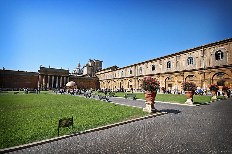 The Vatican City Courtyard, Rome, Italy