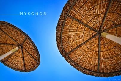 Beach Umbrellas in Mykonos