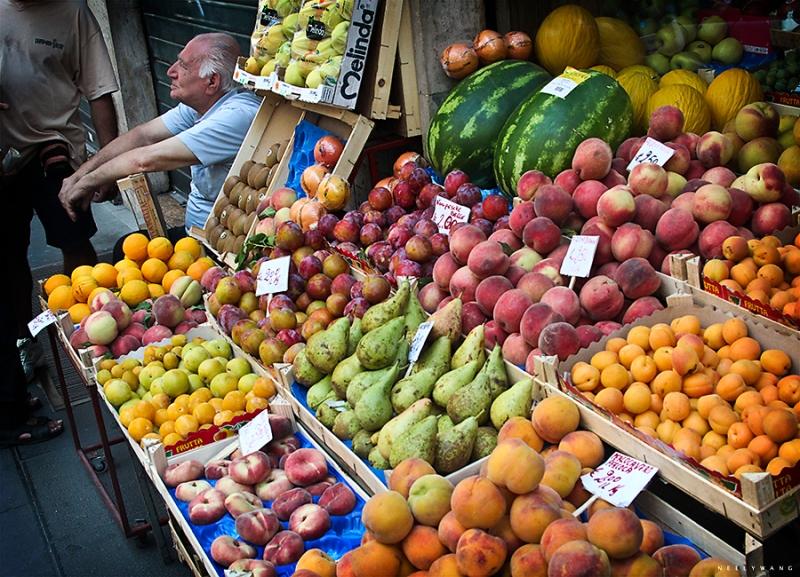 Fruit Market in Naples