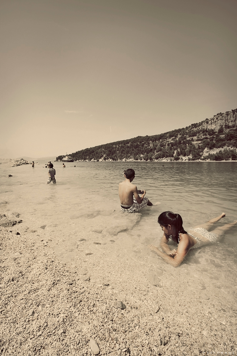 Beach at Split, Croatia