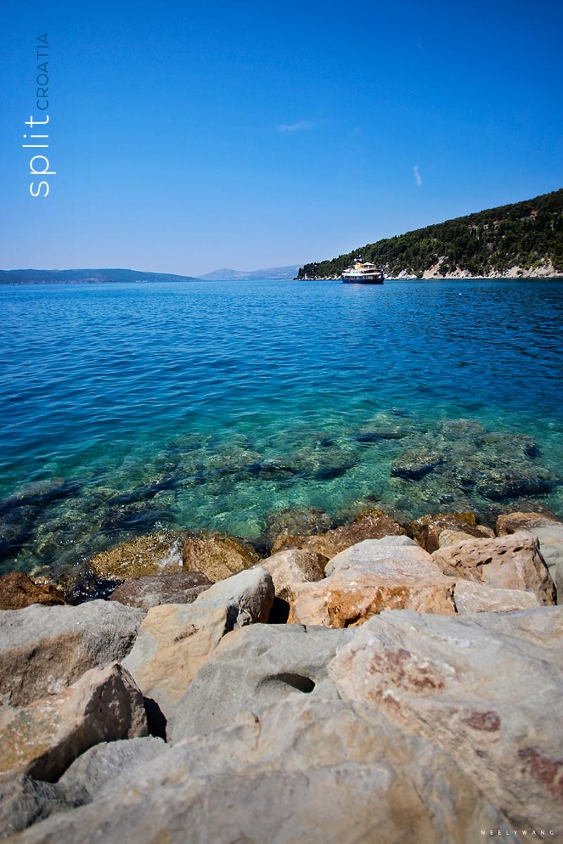 Beach in Split, Corfu