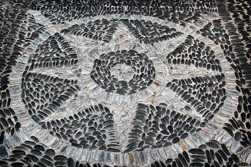 Stone Mosaic in Santorini