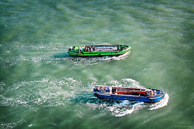 Motorboats in Venice