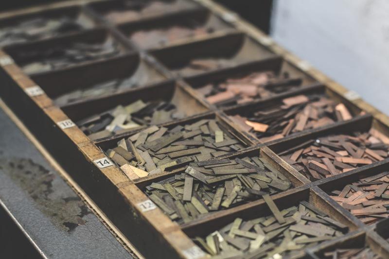 Letterpress Metal Filament
