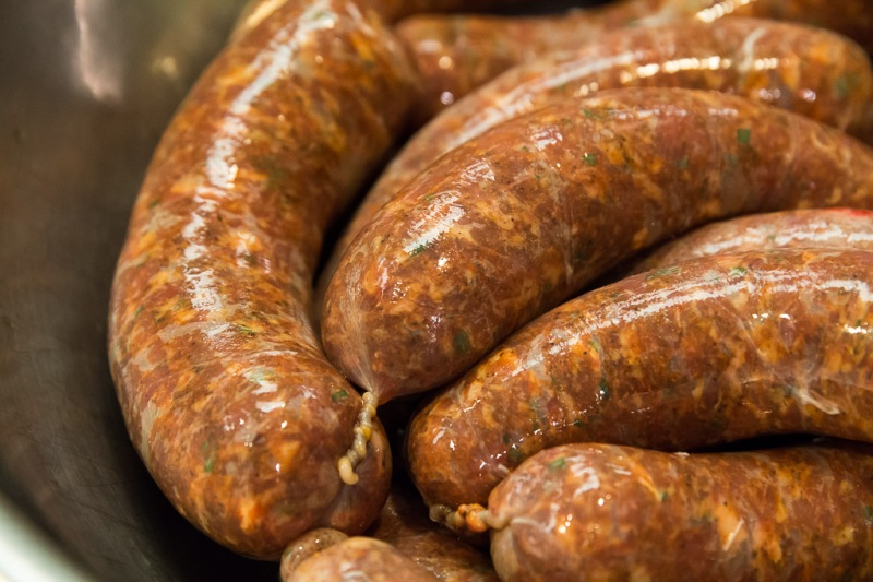 Marina Meats Sausage | Neely Wang Photography