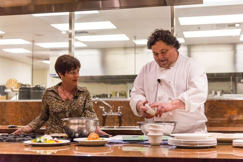 Chef Tony Najiola and Lauie Figone